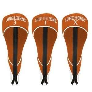 Texas Longhorns Orange Three Pack Zippered Golf Club