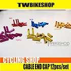Color Bicycle Bike Brake Cable End Tip Cap Crimps 12pcs