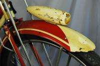 Vintage 1951 Columbia 3 star balloon tire bicycle bike red excellent