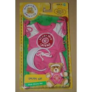 Build A Bear Workshop Dress Me Pink Shorts Set: Toys & Games