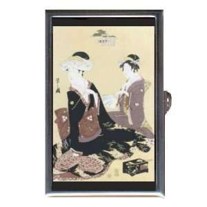 BRIDE YOUNG GIRL JAPANESE WOODBLOCK Coin, Mint or Pill Box