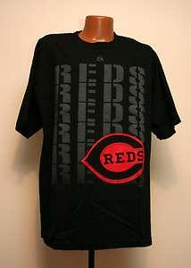 Reds MLB Cool Graphic Logo Black Pop T shirt Mens Sizing