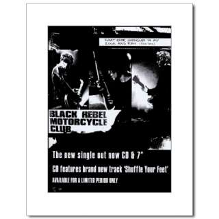 BLACK REBEL MOTORCYCLE CLUB Tour 2002 Matted Ad/Poster