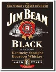 Jim Beam BlackThe Worlds Finest Bourbon Tin Sign
