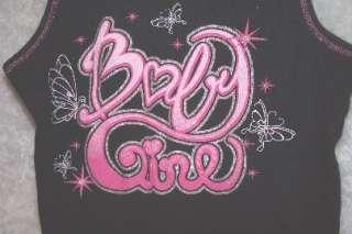 BABY GIRL BLACK GLITTER TANK TOP L 14/16
