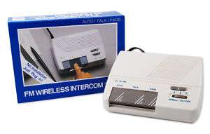 FM Wireless Intercom System Auto Talk Call 2pc Lot NEW