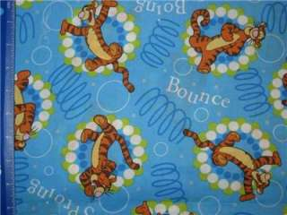 TIGGER SPROING BOING BOUNCE FABRIC FAT QUARTER   DISNEY POOH FQ  RARE