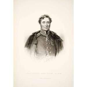 1881 Steel Engraving British Field Marshall Lord Raglan