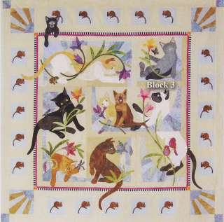 House Quilts Cat Acatemy Acatamy BOM Quilt Pattern 8 block set