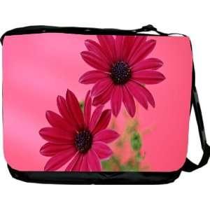 Rikki KnightTM Pink Gerberas Design Messenger Bag   Book