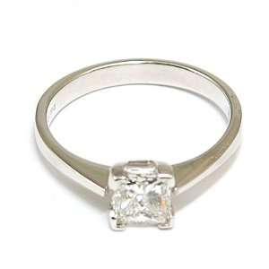 Princess Cut Diamond Ring 18ct Gold 0.94ct Size N Size 6.5