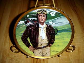 John Wayne SYMBOL OF AMERICAS FIGHTER PILOTS Franklin Mint Duke Plate
