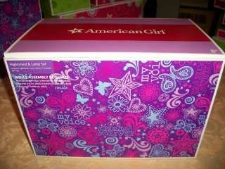 American Girl Doll AG EMPTY BOX Nightstand & Lamp Set
