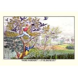Vintage Art Stealing Birds Eggs   06411 0