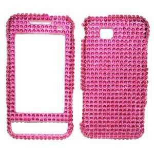 New Pink Sparkling Rhinestones Full Diamond Bling Samsung A867