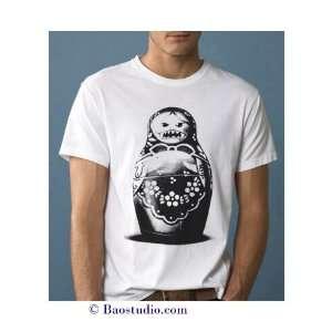 Evil Matryoshka Doll   Pop Art Graphic T shirt (Mens