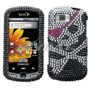 Sparkling Black Skull with Pink Eye Patch Full Diamond