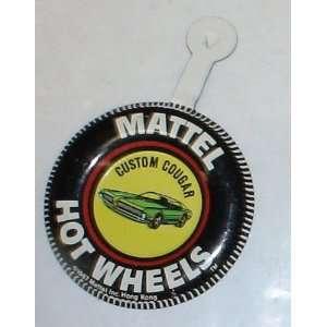 Vintage 1967 Mattel Hot Wheels Badge  Custom Cougar