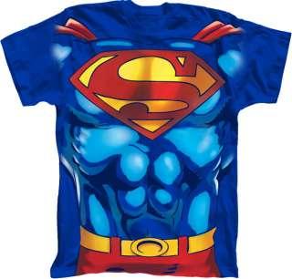 Superman Man Of Steel T Shirt Costume