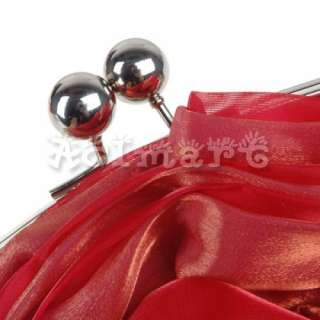 Wedding Handbag Evening Party Bridal Clutch Rose Bag