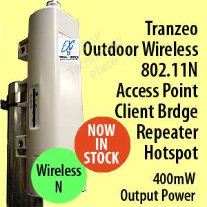 Tranzeo EX2 8 Outdoor Access Point Bridge Repeater CPE 802.11N