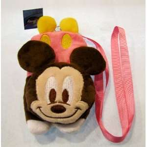 Disney Mickey Mouse Plush Pouch with Neck Strap