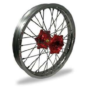 Pro Wheel Supermoto Front Wheel Set   17x3.50   Silver Rim