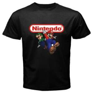 Mario bross nintendo black new mens t shirt. s to 3xl