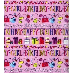 Birthday Girl Gift Wrapping Paper 24 X 6 Everything