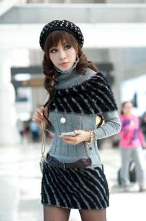 New Womens Striped Knitted Long Tops T shirt Supper Mini Dress With