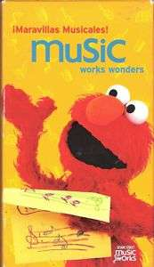 SESAME STREET MUSIC WORKS WONDERS VHS CHILDREN FAMILY