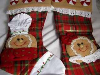 2009 ADLER GINGERBREAD BOY & GIRL CHRISTMAS STOCKINGS