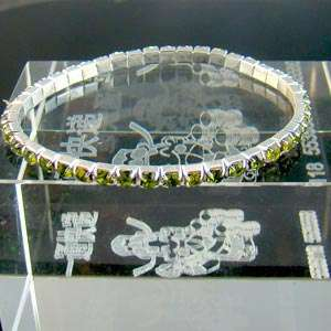 c311 Lady Row Bridal Gemstone Pearl Crystal Bead Elastic Bangle