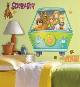 New MYSTERY MACHINE WALL DECALS Scooby Doo Van Stickers 034878094021