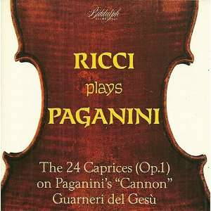 Ricci Plays Paganini The 24 Caprices (Op. 1) on Paganini