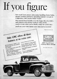 1954 GMC Stepside Pickup Truck If You Figure Original Ad