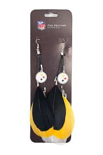 PITTSBURGH STEELERS Logo NFL Team Color Fan FEATHER Silver J Hook