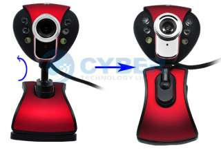 USB 2.0 300K 6 LED WEB Camera Webcam Mic PC SKYPE MSN