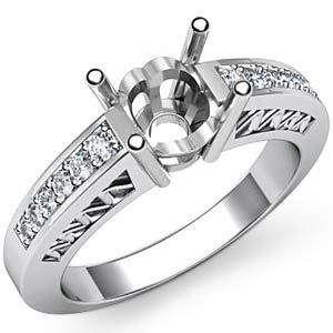25Ct Round Diamond Engagement Ring Setting Platinum