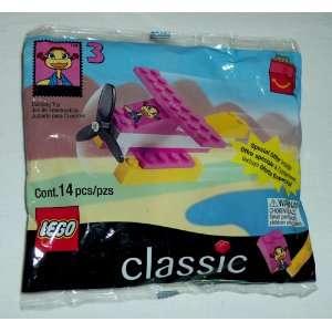McDonalds LEGO CLASSIC #3 Pink Airplane: Birdie, 1999