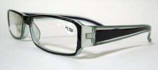 Georgio Caponi Reading Glasses 1.75 Black Blue Trim Unisex
