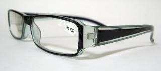 Georgio Caponi Reading Glasses 1.75 Black Blue Trim Unisex