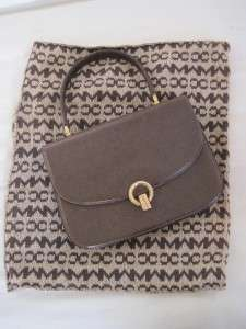 MARK CROSS Brown Leather Handbag/ Purse with knit dust bag