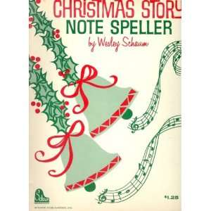Christmas Story Note Speller Books