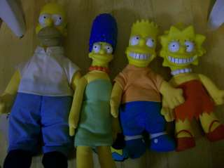Lot of 4 Bart Simpsons Family TV Cartoon Character Dolls