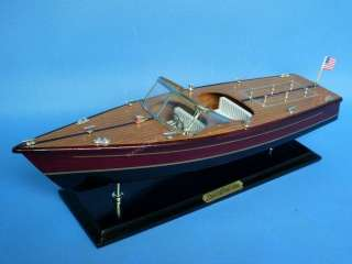 Chris Craft Dual Cockpit 20 Wooden Model Speedboat