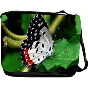 Rikki KnightTM American Flag Butterfly Design Messenger Bag   Book
