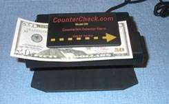 Counter Top Counterfeit Money and Credit Card Detector With Built In