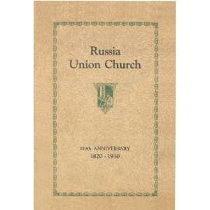 Church, 110th Anniversary, 1820 1930: Rev. Roger F. Williams: Books