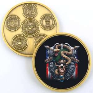 ARMY SPECIAL FORCES GREEN BERET CHALLENGE COIN YP667